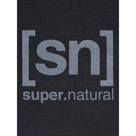 super.natural Logo Koszulka Mężczyźni, jet black melange/vapor grey logo